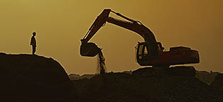 Construction digger - environmental